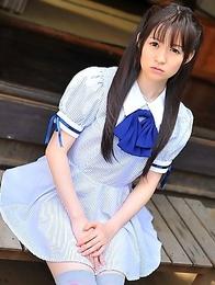 hairy; japanese; outdoors; pussy; schoolgirl; stockings; teen; uniform; upskirt;
