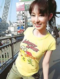 japan idols; japan teens; japanese teens; outdoors; solo;
