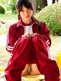 ass; japan teens; japanese teens; outdoors; solo; sport;