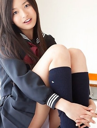 japan idols; japan teens; japanese teens; outdoors; schoolgirls; solo; upskirt;
