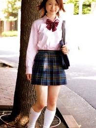 beautiful; japan idols; japan teens; japanese teens; outdoors; schoolgirls; uniform; upskirt;